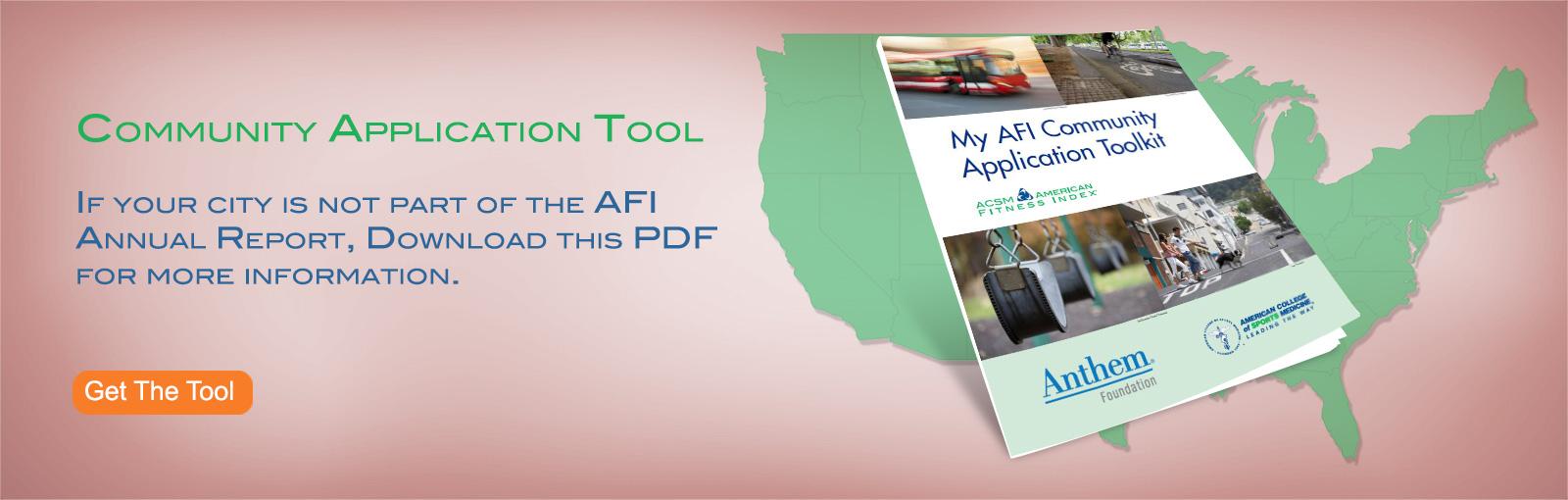 My AFI Community Application Tool
