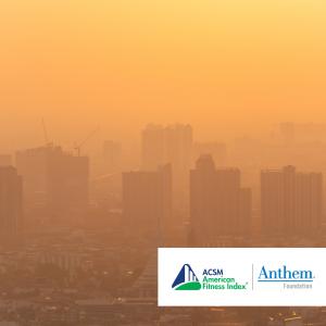 orange sky, poor city air quality