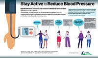 Stay Active to Reduce Blood Pressure infographic